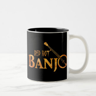 Red Hot Banjo Two-Tone Coffee Mug
