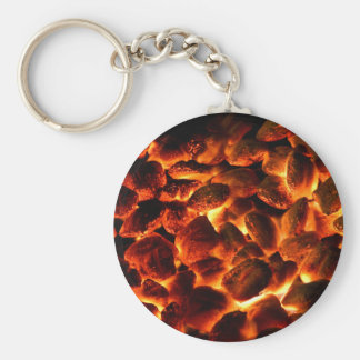 Red Hot Burning Coals Key Ring