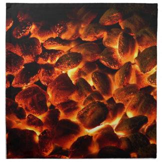 Red Hot Burning Coals Napkin