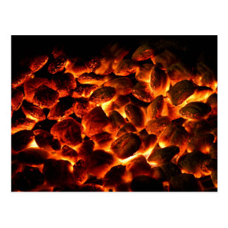 Red Hot Burning Coals Postcard