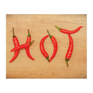 Red Hot Chili Peppers Letters Word Wood Canvas
