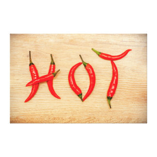 Red Hot Chili Peppers Word Canvas Stretched Canvas Print