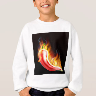 Red Hot Chilli Pepper on Fire Sweatshirt