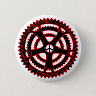 Red Hot Cycle Tracks in Utopia 6 Cm Round Badge