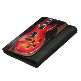 Red Hot Electric Guitar Wallet
