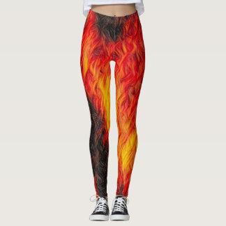 Red Hot Fire Leggings