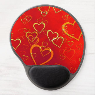 Red Hot Hearts Gel Mousepad