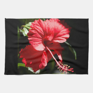 Red Hot Hibiscus in the Sun Tea Towel