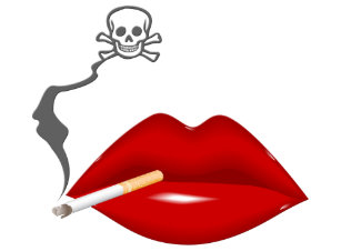 f7178e84 Red Hot Lips Cigarette Skull Smoke All-Over Print T-Shirt