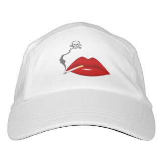 Red Hot Lips Cigarette Skull Smoke Hat