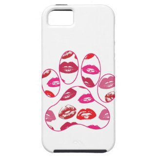 Red Hot Lips Dog Paw Print iPhone 5 Covers
