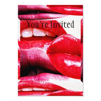 Red Hot Lipstick Lips Card