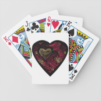 """Red Hot Love Heart"" products"".* Bicycle Playing Cards"