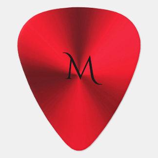 Red Hot Metallic Monogram Guitar Pick
