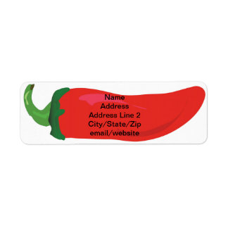 Red Hot Pepper 5 Line Return Address Label