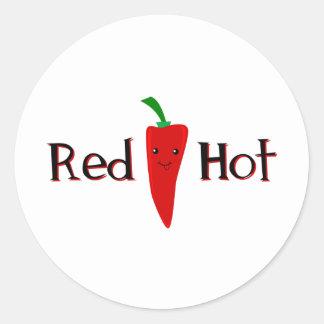 Red Hot Pepper Classic Round Sticker