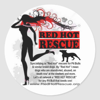 Red Hot Rescue Sticker Circle