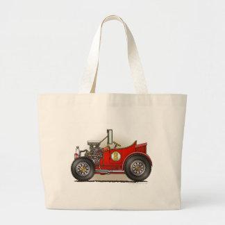 Red Hot Rod Car Bags/Totes Jumbo Tote Bag