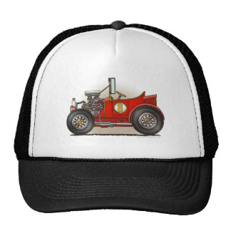 Red Hot Rod Car Hats