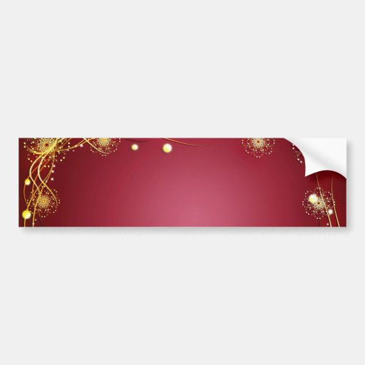 Red Hot Romance with Fireworks Bumper Stickers