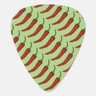 Red Hot Spicy Chili Chile Pepper Peppers Guitar Pick