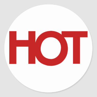red HOT Sticker