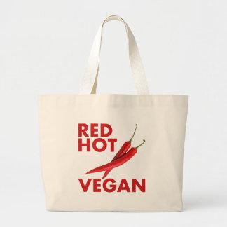 RED HOT VEGAN LARGE TOTE BAG