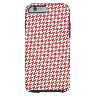 Red Houndstooth Tough iPhone 6 Case