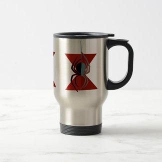 Red Hourglass Spider Travel Mug
