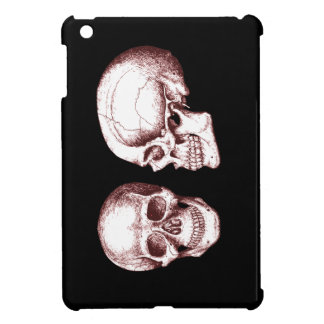 Red Human Skulls side face Cover For The iPad Mini
