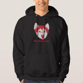 Red Husky Revolution Black Hoodie