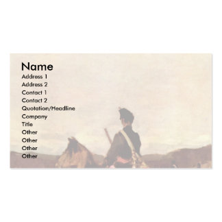 Red Hussar Horse By Grigorescu Nicolae Pack Of Standard Business Cards