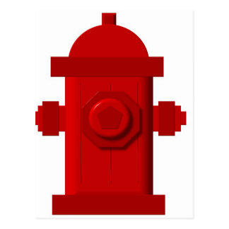 red hydrant items postcard