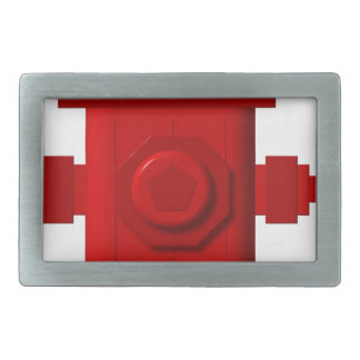 red hydrant items rectangular belt buckle