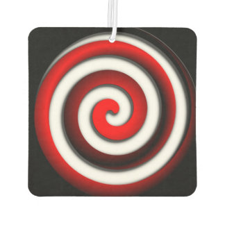 Red Hypnotic Spiral Car Air Freshener