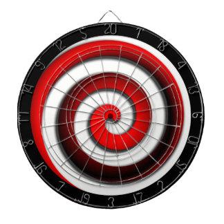 Red Hypnotic Spiral Dartboards