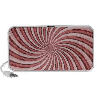 Red Hypnotic Swirl Doodle Mini Speakers
