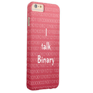 Red I talk Binary Barely There iPhone 6 Plus Case