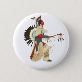Red Indian 6 Cm Round Badge