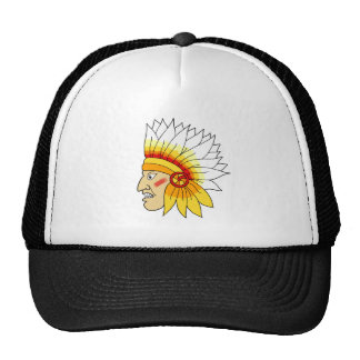 Red Indian Head Cap