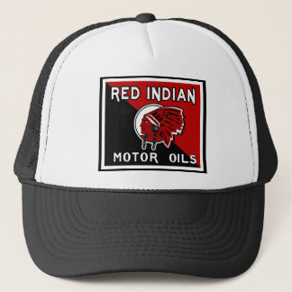 Red Indian Motor Oils vintage sign Trucker Hat