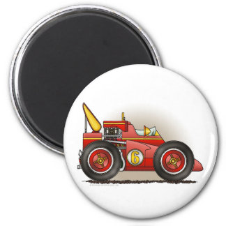 Red Indy Race Car Magnets
