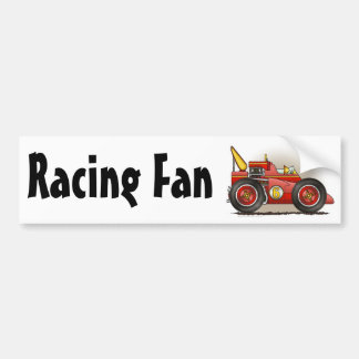 Red Indy Race Car Racing Fan Bumper Sticker
