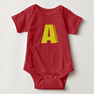 """Red Initial """"A"""" baby top chipmunks 72marketing"""