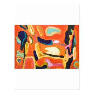 Red Interior ( abstract expressionism ) Postcard