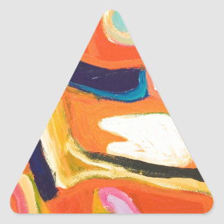 Red Interior abstract expressionism Triangle Sticker