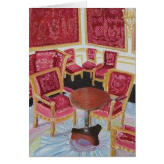 Red Interior:Chateau de Fontainebleau Card