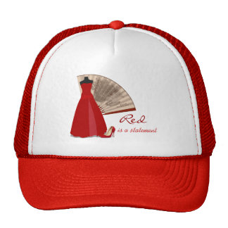 Red is a Statement Hats