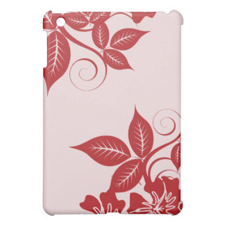 Red Island Floral  iPad Mini Cover