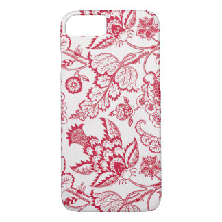 Red Jacobean print iPhone 7 Case